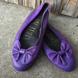 Vintage Purple Bow Flats Sam and Libby